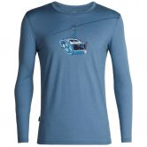Icebreaker - Tech Lite Long Sleeve Crewe Camper Lift Man granite blue
