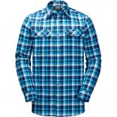 Jack Wolfskin - Bow Vally Hemd Herren icy lake blue checks