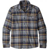 Patagonia - Fjord Lightweight Flannel Shirt Men rozman navy blue
