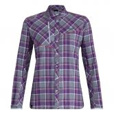SALEWA - Fanes Flannel 4 Polarlite Shirt Women flint stone pansy white