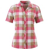 Maier Sports - Jara Shortsleeved Shirt Women pink brown check