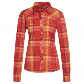Maier Sports - Merta Langarmhemd Damen red yellow check