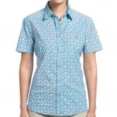 Maier Sports - Mae SS Bluse Damen blue red allover