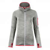 ORTOVOX - Fleece Melange Kapuzenjacke Damen grey blend