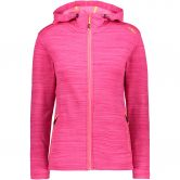 CMP - Stretch Fleece Kapuzenjacke Damen pink melange