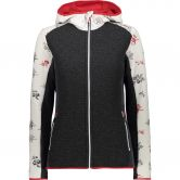 CMP - Fix Hood Fleece Jacket Women gesso blood