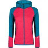 Montura - Hybrid Wool Hoody Maglia Fleecejacke Damen rosa sugar blu ottanio