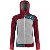 ORTOVOX - Fleece Plus Hoody Damen dark blood