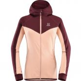 Haglöfs - Lithe Fleece Jacket Women cloudy pink aubergine
