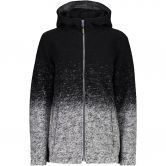 CMP - Fix Hood Wooltech Jacket Women nero grigio