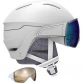 Salomon - Mirage Visor Helmet Women white blue solar