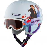 Alpina - Zupo Disney Set Helm + Brille Kinder frozen II