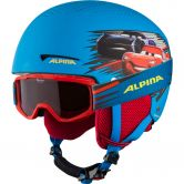 Alpina - Zupo Disney Set Helm + Brille Kinder cars