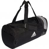 adidas - Convertible 3-Stripes Duffel Bag M black white
