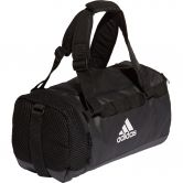 adidas - Training Convertible Duffel Bag black white