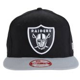 "New Era - Footballcap NFL ""Raiders"" Cotton Block 59Fifty schwarz / grau"