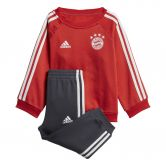 adidas - FC Bayern 3-Stripes Baby Jogger Kit Kids fcb true red carbon grey one