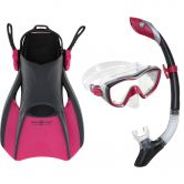 Aqua Lung Sport - Set Bonita Schnorchelset dark pink black