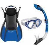 Aqua Lung Sport - Trooper Schnorchel Set Unisex blau schwarz