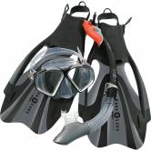 Aqua Lung Sport - Schnorchelset Proflex FX Unisex schwarz silber