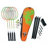 Talbot Torro - Badminton Set 4 Attacker Plus orange grün
