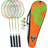 Talbot Torro - Badminton Set 4 Attacker orange grün
