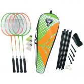 Talbot Torro - Badminton Set 4 Attacker Plus Set grün orange