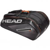 Head - Tour Team 12R Monstercombi Tennistasche schwarz silber