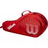 Wilson - Junior 3 Pack Tennis Bag red white
