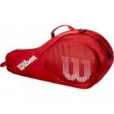 Wilson - Junior 3 Pack Tennistasche rot weiß