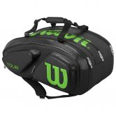 Wilson - Tour V 15 Pack Tennistasche black lime