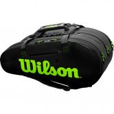 Wilson - Super Tour 3 Comp Tennistasche charcoal green