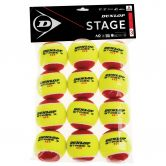 Dunlop - D TB Stage 3 Tennis Balls Set of 12 red