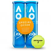 Dunlop - Australien Open Doppelpack Tennisbälle 2x4er gelb