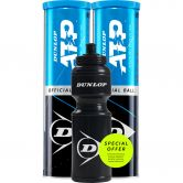 Dunlop - ATP Official Tennis Balls 2x Set of 4 incl. Drinking Bottle