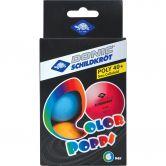 Donic Schildkröt - Color Popps Tischtennisbälle 6er