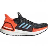 adidas - Ultraboost 19 Running Shoes Women core black glow blue hi-res coral