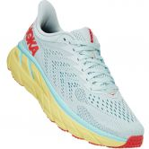 HOKA - Clifton 7 Laufschuhe Damen morning mist hot coral