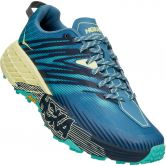 HOKA - Speedgoat 4 Trailrunning-Schuhe Damen provincial blue luminary green
