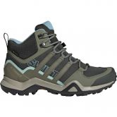 adidas - Terrex Swift R2 Mid Gore-Tex Hiking Shoes Women legend earth legacy green ash grey