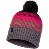 BUFF® - Knitted & Fleece Hat Alyona Unisex melange grey pink