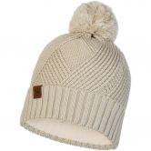 BUFF® - Knitted & Fleece Hat Raisa Bommelmütze Unisex cream