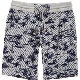 Superdry - All Over Print Washed Shorts Herren grey marl tropical
