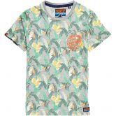 Superdry - All Over Print Ticket Type Pocket Lite T-Shirt Herren ice marl grit