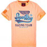 Superdry - High Flyers Slub T-Shirt Herren worn orange