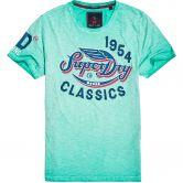 Superdry - High Flyers Slub T-Shirt Herren skate mint