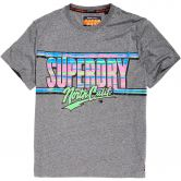 Superdry - Acid Graphic Mid Weight Oversize T-Shirt Herren podium mid grey