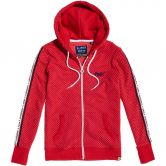 Superdry - Orange Label All Over Print Zip Hoodie Damen nautical red