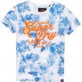 Superdry - New Original Hibiscus T-Shirt Damen optic slub