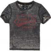 Superdry - Real Originals Strassstein Boxy T-Shirt Damen black burn out